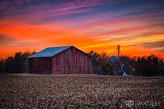 Barn - Sunset (AP Imagery) Tags: ky kentucky owensboro barnsunset daviessco farm landscape rural sky thruston