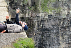Selfies on the Unstable Ground on the Cliffs of Moher (albatz) Tags: ireland warning cliffs cliffsofmoher unstable