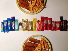 Hard Choice Sauces Chips Fishfingers (martinator23) Tags: chips sauces fishfingers hardchoice