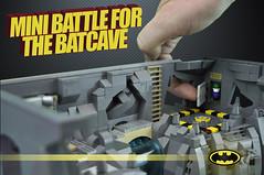 Batman: Mini Battle for the Batcave (Brickadier General) Tags: robin project miniature dc batcave play lego wayne mini harley batman quinn joker features superheroes manor collaborative batmobile ideas playset batwing batboat microscale playable