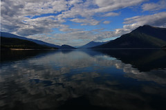 Arrow Lakes Symmetry (pokoroto) Tags: autumn canada fall landscape bc lakes columbia symmetry september british arrow 9 2015   longmonth   kugatsu nagatsuki  27