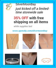 Jewelry (SilverMoonBay) Tags: sale infinity jewelry lariat freeshipping