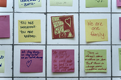 Levee's 14th Street Grief Wall (joe holmes) Tags: 14thstreet election griefwall postits protest subway trump tunnel