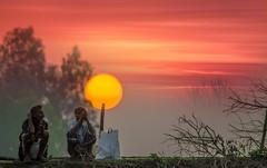 Waiting (Zahid Sumon) Tags: life street morning winter sun streetlife rise