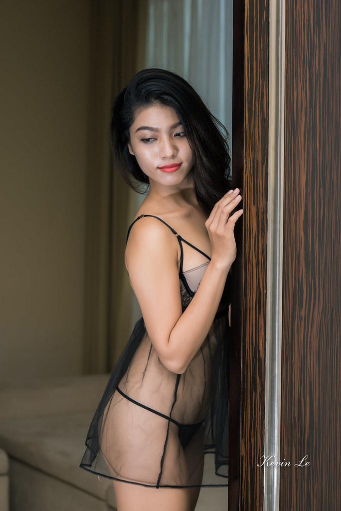 Sexy asian exposed nipple