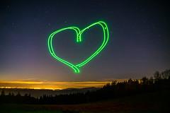 Heart of Inspire (Nolle15) Tags: light lightpainting black forest germany painting de deutschland licht sony inspire schwarzwald herz malen langzeitbelichtung badenwrttemberg kinzigtal ortenau ortenaukreis dji fischerbach nillhof