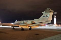 N605NA NASA Learjet 23 at KCLE (GeorgeM757) Tags: airplane airport aircraft aviation nasa learjet clevelandhopkins bizjet kcle alltypesoftransport nightairplane learjet23 georgem757 n605na