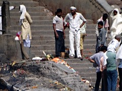 Manikarnika Ghat - Cremations (6) (pensivelaw1) Tags: india varanasi cremations manikarnikaghat