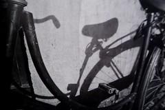 Shadows (blauwedrek) Tags: shadow white black amsterdam bicycle la sardina caffenol