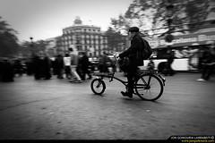 The same routine. (jongoikoh) Tags: barcelona plaza people en white man black classic bike time crowd bcn social ciclista bici biker catalunya spare domingo por ocio barna diumenge bartzelona txirrindulari igandea