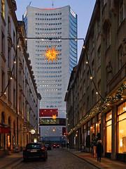 Leipzig im Advent (ingrid eulenfan) Tags: night weihnachten advent nacht leipzig uniriese weihnachtsstern