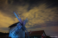Mill (z.dorighi) Tags: mill night stars sky clouds scenery architecture wodden long exposure beautiful evening old
