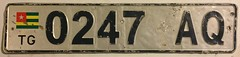 TOGO, CURRENT ISSUE ---PASSENGER PLATE (woody1778a) Tags: togo africa licenseplate numberplate registrationplate mycollection myhobby registration license hobby alpca woody worldplates