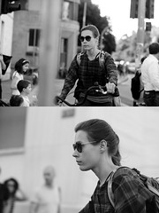 [La Mia Citt][Pedala] (Urca) Tags: milano italia 2016 bicicletta pedalare ciclista ritrattostradale portrait dittico nikondigitale mir bike bicycle biancoenero blackandwhite bn bw 89594