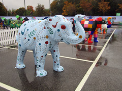 Symbiosis by Doodle Monkey, Herd of Sheffield Farewell Weekend 2016 (Dave_Johnson) Tags: elmer meadowhall carpark shoppingcentre symbiosis doodlemonkey herdofsheffield herd elephant elephants art streetart sculpture sheffchildrens sheffieldchildrenshospitalcharity sheffieldchildrenshospital childrenshospitalcharity childrenshospital sheffield southyorkshire