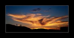 Zabriskie Point sunset. (tkimages2011) Tags: zabriski point sunset death valley deathvalley people sky blue orange seat bench silhouette california national park armargosa zabriskie