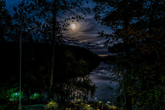 Autumn Cottage 5 (AaronP65 - A sincere thnx for over 1 million views) Tags: supermoon cottage autumn night lake
