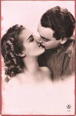 The Kiss (Truus, Bob & Jan too!) Tags: pinup girl woman man sweet sexy beachwear swimwear bathingsuit maillot sea surf vintage postcard carte postale cartolina postkarte tarjet postal postkaart briefkarte briefkaart ansichtkarte ansichtkaart jg