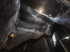 In the bunker (lars_uhlig) Tags: 2016 denkmal deutschland essen germany unesco welterbe zeche zollverein worldheritage cokeplant kokerei bunker beton concrete stairs treppen treppe