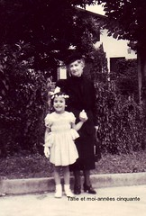 Going to the mass (Kay Harpa) Tags: enfance childhood biarritz 50ies littlekay blackandwhite familyphotos france thebiggestgroup