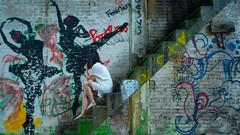 Self Portrait in an abandoned chemical plant (rantropolis) Tags: abandoned abandonedontario abandonedfactory selfportrait urbex urbanexploration graffiti
