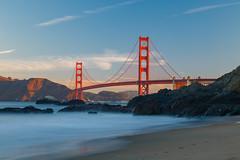 Long Exposure (Chris J Russell) Tags: landmark longexposure beach bridge goldengatebridge goldengate sanfrancisco california unitedstates us