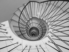 Eight floors one step at a time (rainerralph) Tags: stairs olympus architektur treppenauge architecture staircase treppen deutschland omdem5markii germany objektiv714pro treppe