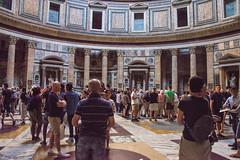 Rome - Pantheon Statue Niches 7 (Le Monde1) Tags: italy rome city eternal lemonde1 nikon d610 vatican capitoline palatine tiber river roma stpeters sevenhills capital romancatholic pantheon statue niches inri ignenaturarenovaturintegra