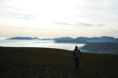 Laura at the top of Helvellyn (dark_dave25) Tags: martindale bungalow helvellyn striding edge lake district tarn walking hiking holiday 2016 october