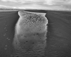 Emptyness (nokkie1) Tags: schiermonnikoog holland island sea beach water wind empty nature texture waves horzon clouds black white contrast outdoor