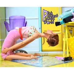 day 22b (pinkperfectplasticworld) Tags: djy08 barbie pink perfect plastic world int jour day nikon doll dolls poupée poupées puppen bambole poppen bonecas dockor nuket dukker 芭比 yoga ヨガ йога 요가 瑜伽 blue top fitness bambi made move mtm 2015 muñeca muñecas mattel 16 sport バービー