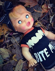 Saucy Sunday (Lawdeda ) Tags: saucy doll 1972 vintage silly nonsense my favorite face her bite me halloween hijinx funny stuff picmonkey