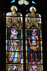 King and queen in stained glass (quinet) Tags: 2014 belgium bruges glasmalerei stainedglass vitrail antwerp flanders