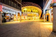 Bury St Edmunds Debenhams (Neal_T) Tags: 12mm architecture burystedmunds christmas christmaslights debenhams festive fuji fujifilm lights moden night nightime path red retail samyang shoping shops ultrawideangle walk white wideangle xt1 xmas burysaintedmunds england unitedkingdom gb