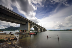 Bridgetober (<Pirate>) Tags: manjongs bridge perak landscape waterscape long exposure haida nd1000 pro glass gnd 9soft 1018 is stm manjong visit color fishing under weather after rain malaysia