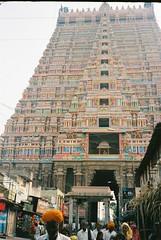 Trichy 9 (grassybrownie) Tags: india tiruchirappalli trichy hindu hindism hindi temple building architecture god art sky film 35mm camera yashica old vintage