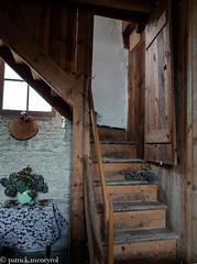 vieil escalier - old stair (pat 19) Tags: escalier temple protestant stairs architecture bois bieux ancien patrimoine