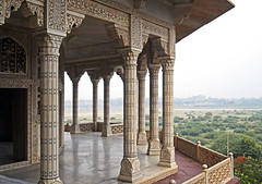 16 3087 - Inde, Agra, le Fort Rouge, le Musamman Burj (jeanpierreossorio) Tags: inde agra fortrouge palais chteau colonne