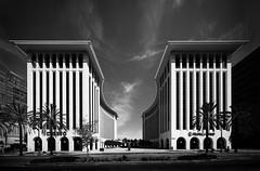 Ahmanson Center (Chimay Bleue) Tags: edward durell stone eds wilshire boulevard la los angeles design midcentury modernism modernist black white