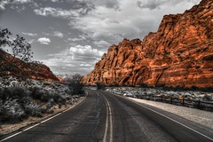 Snow Canyon State Park (Rik Tiggelhoven Travel Photography) Tags: red cliffs desert reserve st george utah usa america amerika outdoor nature landscape road selective color canon 6d ef24105mmf4lisusm rik tiggelhoven travel photography snow canyon state park sp