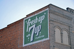 South Dakota, Watertown, 7-Up (EC Leatherberry) Tags: southdakota watertownsouthdakota soda softdrink 7up wall advertisement codingtoncounty
