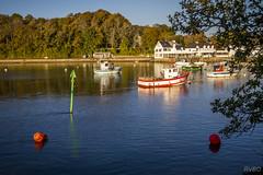 Lumire d'automne sur le Blon (Explore) (RVBO) Tags: bretagne breizh brittany blon finistre automne port bateaux buoyant sea