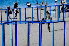 (Jean-Luc Lopoldi) Tags: plage bleu cutout paysbasque slective mer seaside