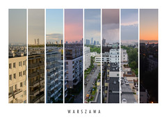 Collage of Warsaw City in different seasons (taipan_pl) Tags: collage warsaw city capital poland polska autumn winter spring summer jesie zima wiosna lato warszawa