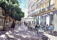 Postigo de San Martín (P.Barahona) Tags: urbano madrid arquitectura dibujo gente calle