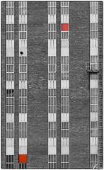 Untitled 00.37 (ViTaRu) Tags: olympus pen epm1 mzuiko microfourthirds m43 wall bricks windows rows symmetry pattern selectivecolor red geometry architecture balcony building varsinaissuomi turku finland