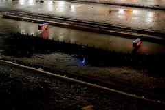 HEMA & tracks (Thijs van Exel) Tags: hema sign letters neon nightshot shop reflection red capitals rain wet dutch amsterdam ferdinandbol febo