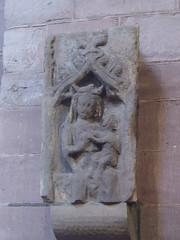 Virgin & Child, Shrewsbury Abbey (Aidan McRae Thomson) Tags: shrewsbury abbey church shropshire medieval carving sculpture relief