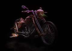 Ghost Rider (Klaus Ficker --Landscape and Nature Photographer--) Tags: ghost rider motorcicle show photoshop fun carshow kentuckyphotography photographers klausficker kentucky usa canon eos5dmarkii