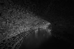 Round da bend (Camera_Shy.) Tags: drain underground culvert water exploration subterranean exploring urban ue monochrome blackand white